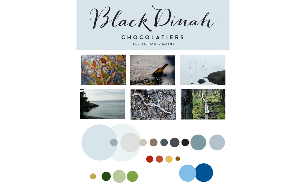 The color palette for Black Dinah's new brand was crafted by identifying the colors of Maine...