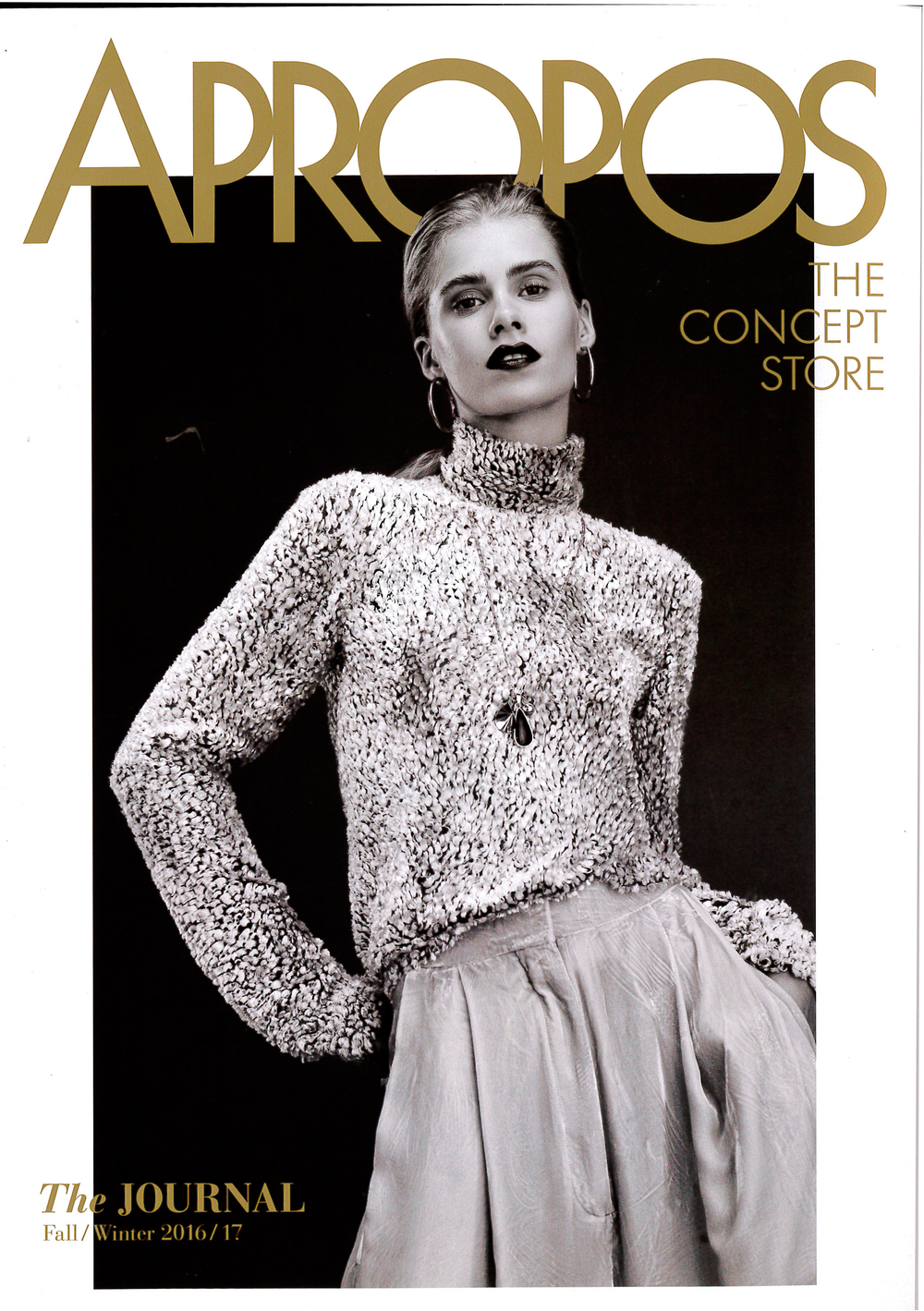 APROPOS, The JOURNAL, Fall/Winter 2016/17, Cover, THE CONCEPT STORE