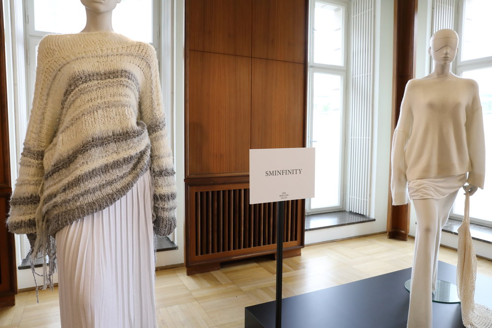 SMINFINITY auf dem Berliner Salon, Fashion Week Juli 2018, Spring Summer 2019. Knitwear Hamburg Germany, Foto: Holger Stoehrmann, mail@stoehrmann.com, 0177-6302754