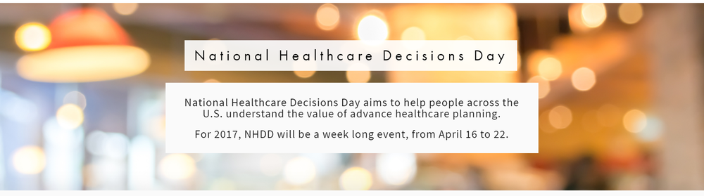 Photo by: National Healthcare Decisions Day is an initiative of The Conversation Project, which works in collaboration with the Institute for Healthcare Improvement.