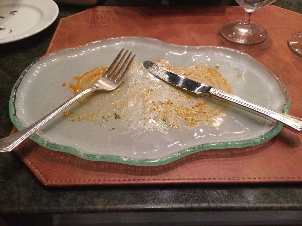 And the after... (this is how my plate looked pretty much after every course)