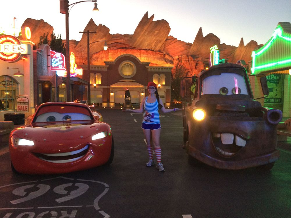 Lighting McQueen, Me and Mater.