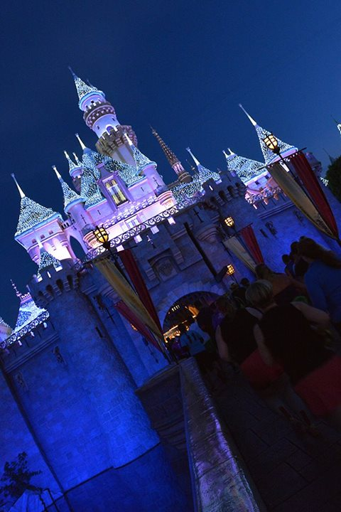 Another RunDisney photo, the Castle lit beautifully.