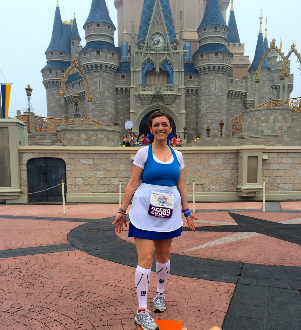My Castle Pic (trying to hide my disappointment of not seeing Belle)