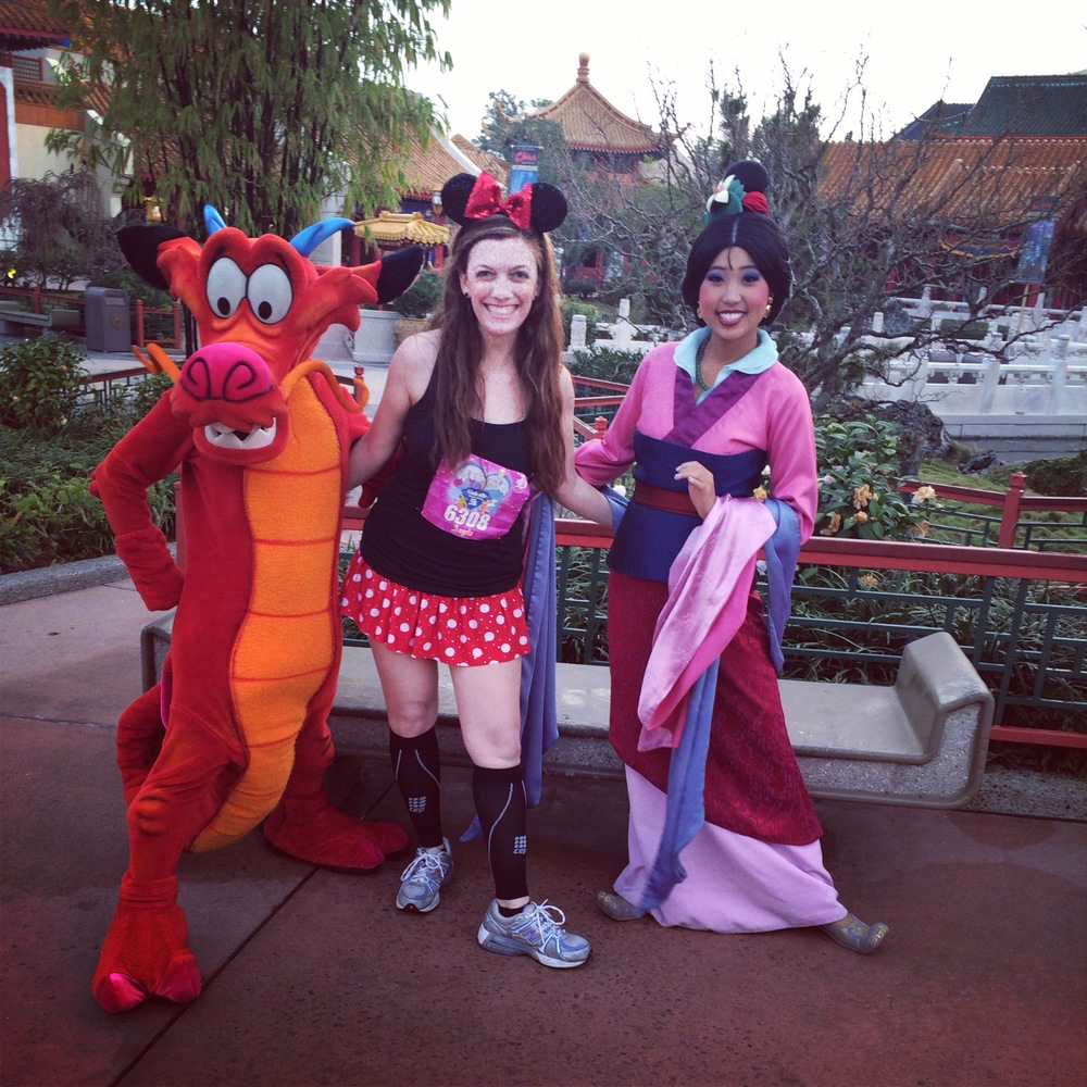 With Mulan & Mushu - so wonderful!