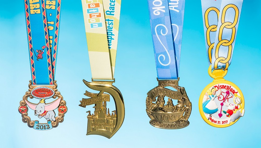 Last years medals. Should remain the same, aside from the 5K medal which usually changes.