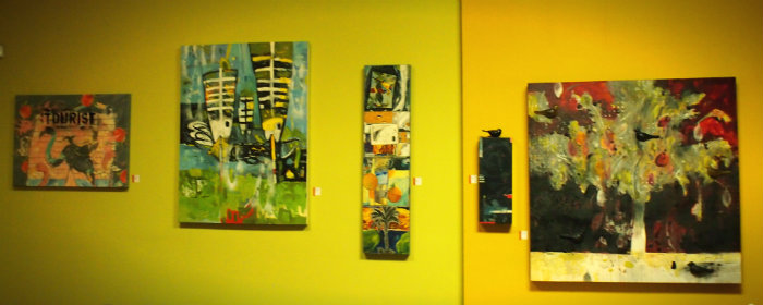 Victor Bokas Paintings still on display at Homegrown Co-op!