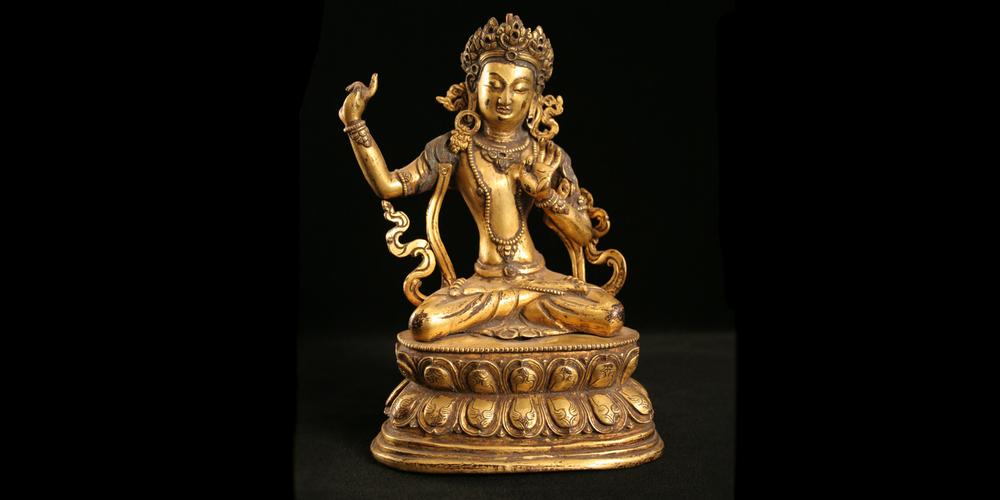 16c. Bonpo Buddha, Gilt Bronze, Tibet