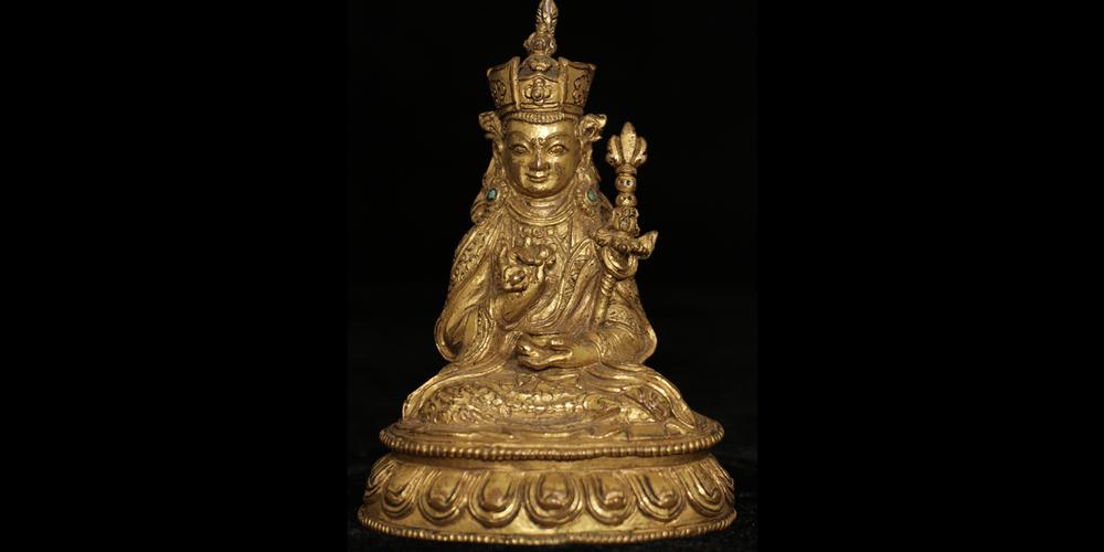 16c. Guru Rinpoche, gilt bronze, Tibet
