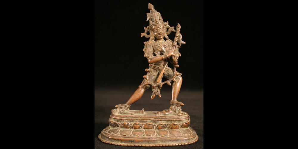 12-13c. Chakra Samvara Heruka, bronze, Tibet