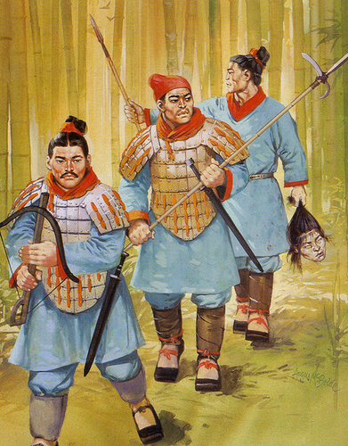 The Imperial Chinese guards were tasked with sericulture's protection