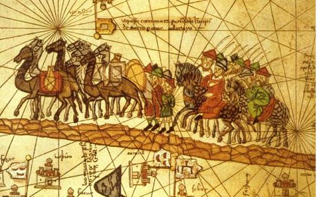 Marco Polo, Famous Venetian Merchant, travelling along the Silk Road
