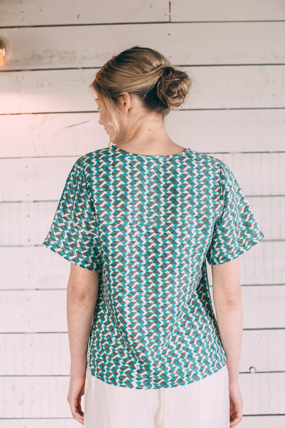 Teal:grey mulberry silk top.jpg