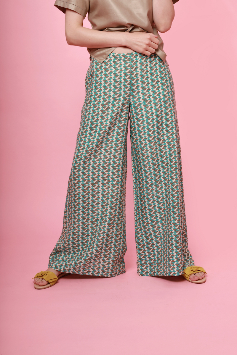 b9abd3082b Mulberry Silk Lounge Pants - Teal/Grey — The Ethical Silk Company