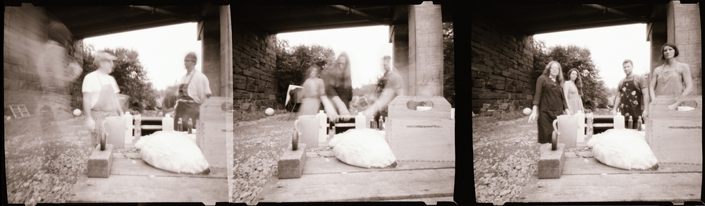 Under the bridge in Rockport, Maine - Maine Media Workshops - Wet Plate Collodion with Jill Enfield, Summer 2013