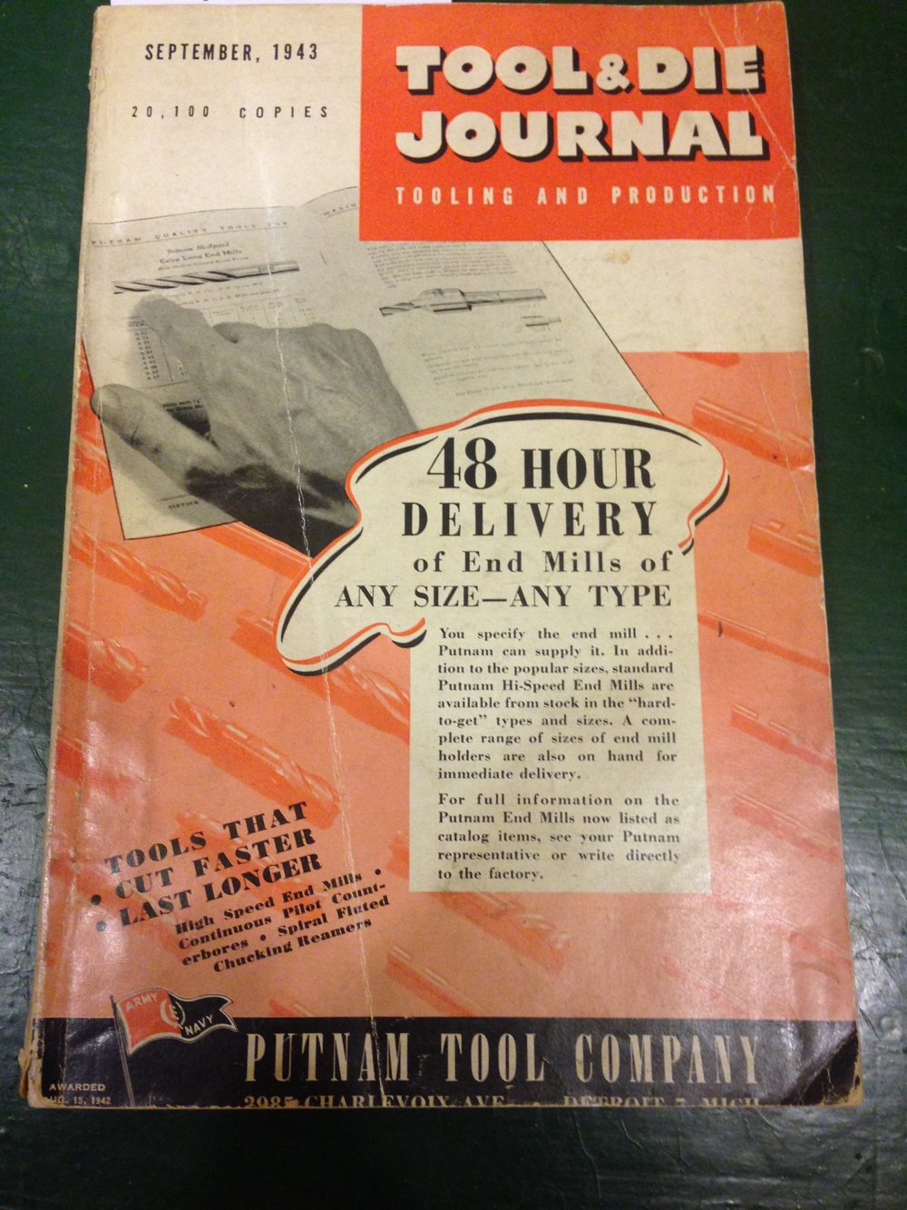 September 1943 issue: I wonder if they still honor the 48 hour delivery guarantee...