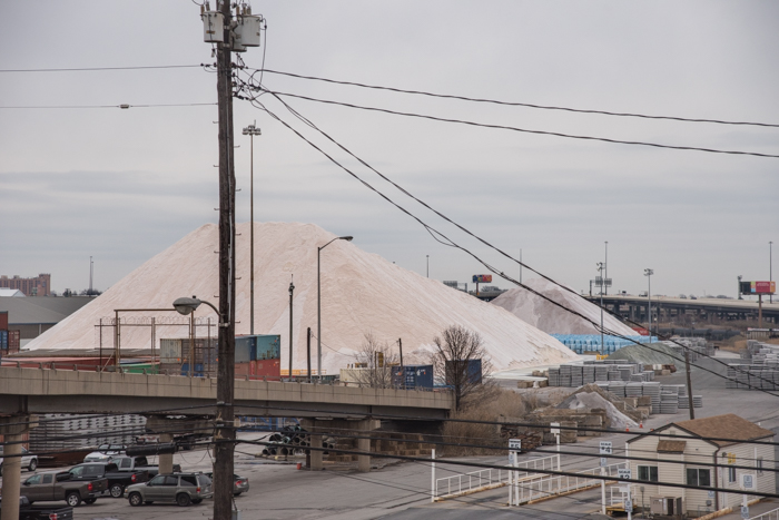 These mountains of salt are all over the place in Canton.