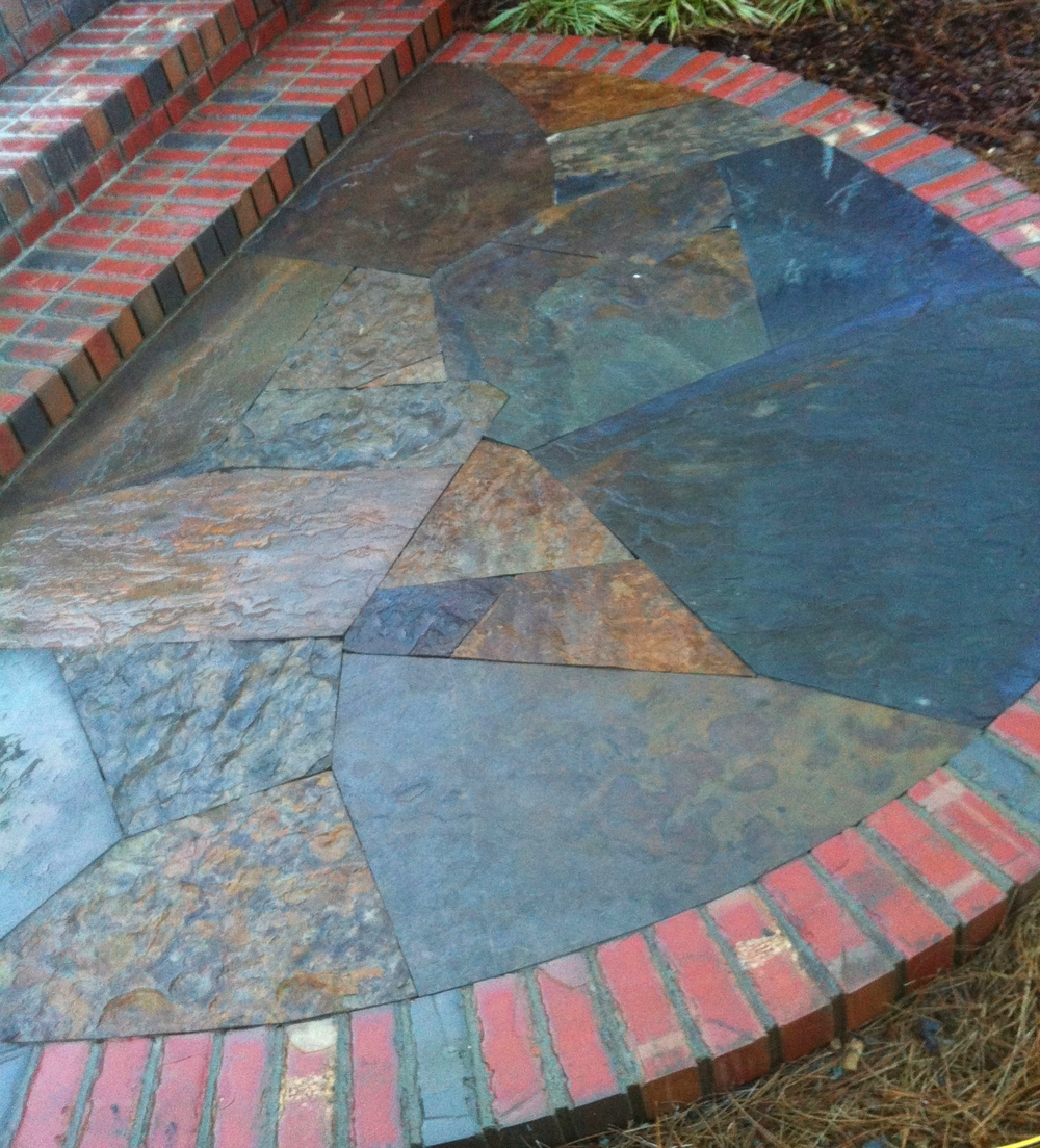 Lincoln creek flagstone landing