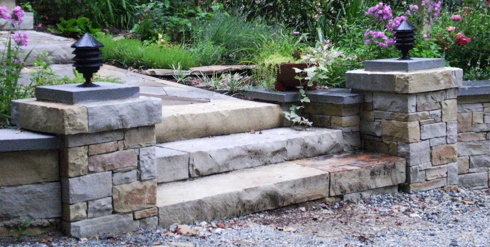 Tennessee ashlar and slab steps