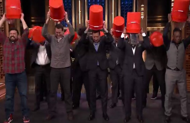 It seems every famous person has had to take the ALS Ice Bucket Challenge....will it help everyday people become more philanthropic after the ice has melted? PHOTO: YOUTUBE.