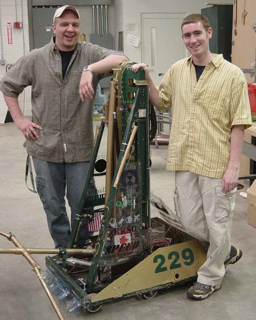 The 2005 robot I worked on when I was on 229 had a 4-bar on a linear elevator.