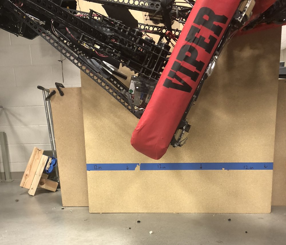 "Big News: Viper climbs again.  We figure any ""partner climb assist"" mechanism that can help Viper, can help any robot.  Viper is probably the ""worst case"" fridge.  Will this thing make it on the final robot?  Hard to say..."