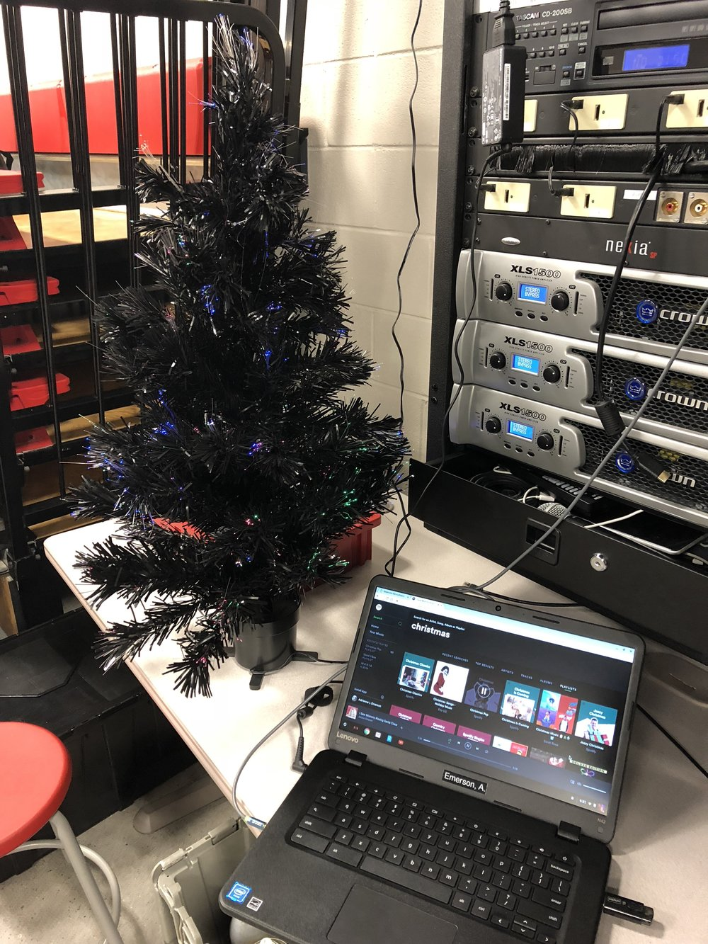 The #AllBlackEverything tree is out, the holiday music is playing... a calm falls over Greenville - The Robowranglers are riveting.  Sheetmetal Christmas has arrived.