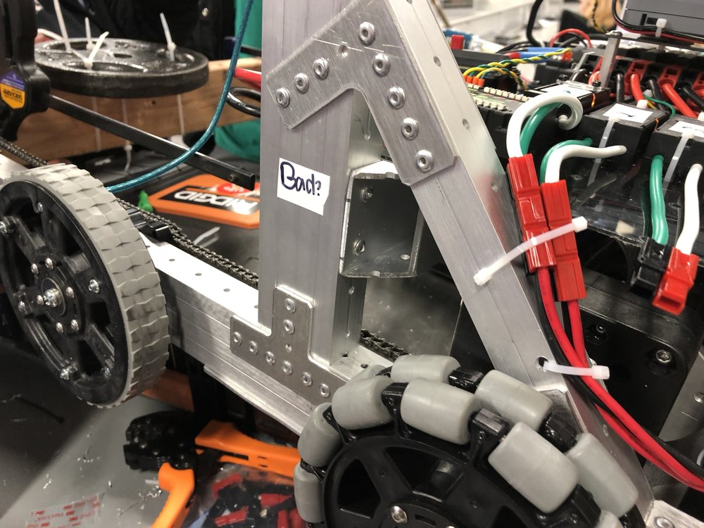 "Our ""bad?"" behavior has contaminated 7179.  There are so many parts and tools labeled ""Bad?"" in the 148 shop.  We could do a really messed up give-away.  "" We'll give you all this stuff, but we have no idea if it works.  You interested in rolling the dice? """