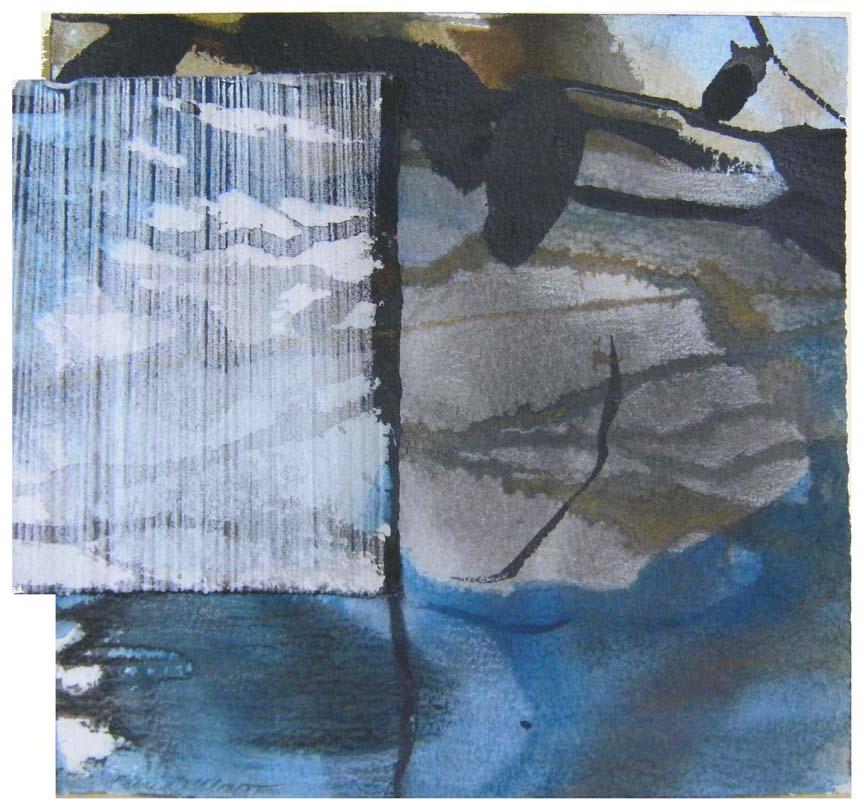 Karen Walter,  Veiled , mixed media collage, $200