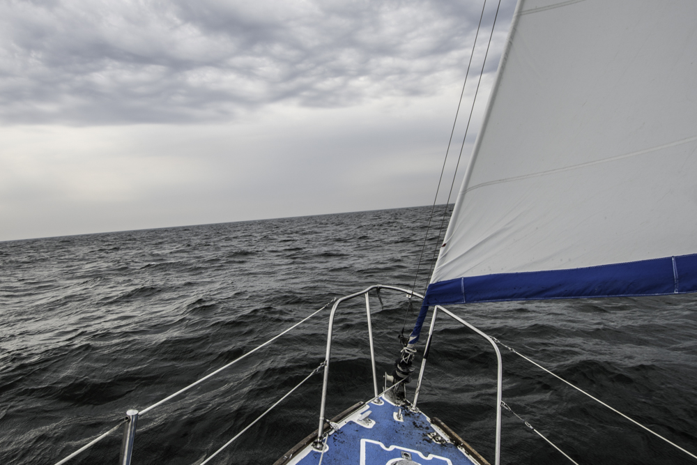 Sailing on Great Slave Lake.