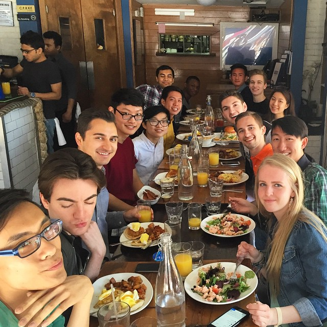 Brunch with Pride Corp to celebrate a successful #sternallyweek and year! 🍳☕️