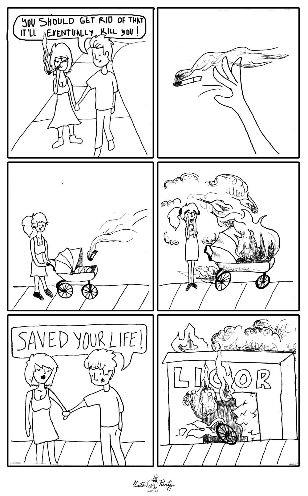 Smoking Kills by Olivia Grace - Victim Party Comics