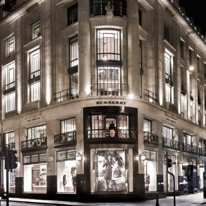 The Burberry store on Regent Street!