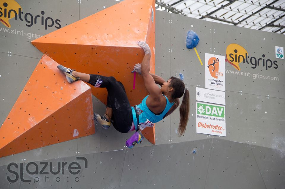 Qualifiers at the Munich Bouldering World Cup! I can't wait until Toronto!!! Photo by Sebastien Lazure