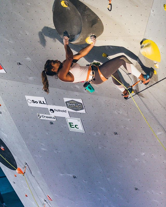 Well that was probably the most competitive qualifying round that I've ever competed in @usaclimbing Sport Climbing Nationals! I'm so happy I was able to squeak my way into Semifinals! Today's a new day, and I'm ready to try hard!!! Watch the live stream starting at 10am PST at lt11.tv brought to you by @louderthan11!!! @evolv_worldwide @organicclimbing @jtreelife @gnarlynutrition @frictionlabs 📸 by @greg_mionske