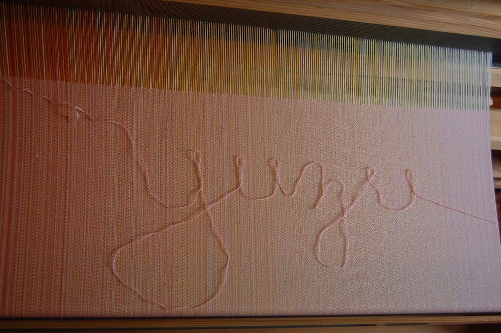 Apricot merino/silk weft