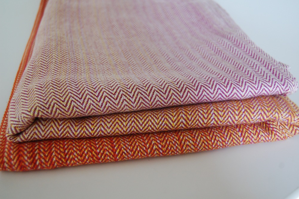 Dahlia Tussah Silk weft,  approximately 305 grams/m^2  , 2.4 meter remnant $35  2