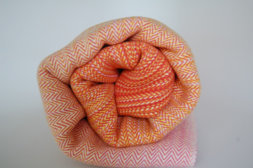 Coral Egyptian Cotton weft 4.75 meters -SOLD