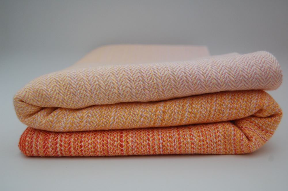 Apricot Merino/Silk weft,  approximately 300 grams/m^2,  4.6 meters  $575