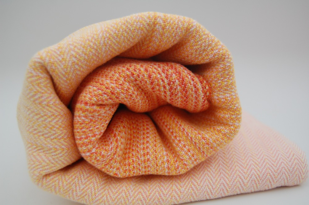 Melon Cottolin weft, approximately 360 grams/m^2 SOLD