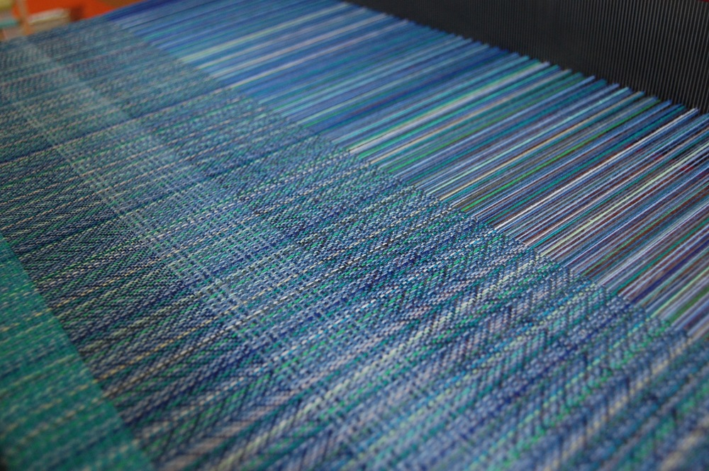 A close-up on the weft samples.