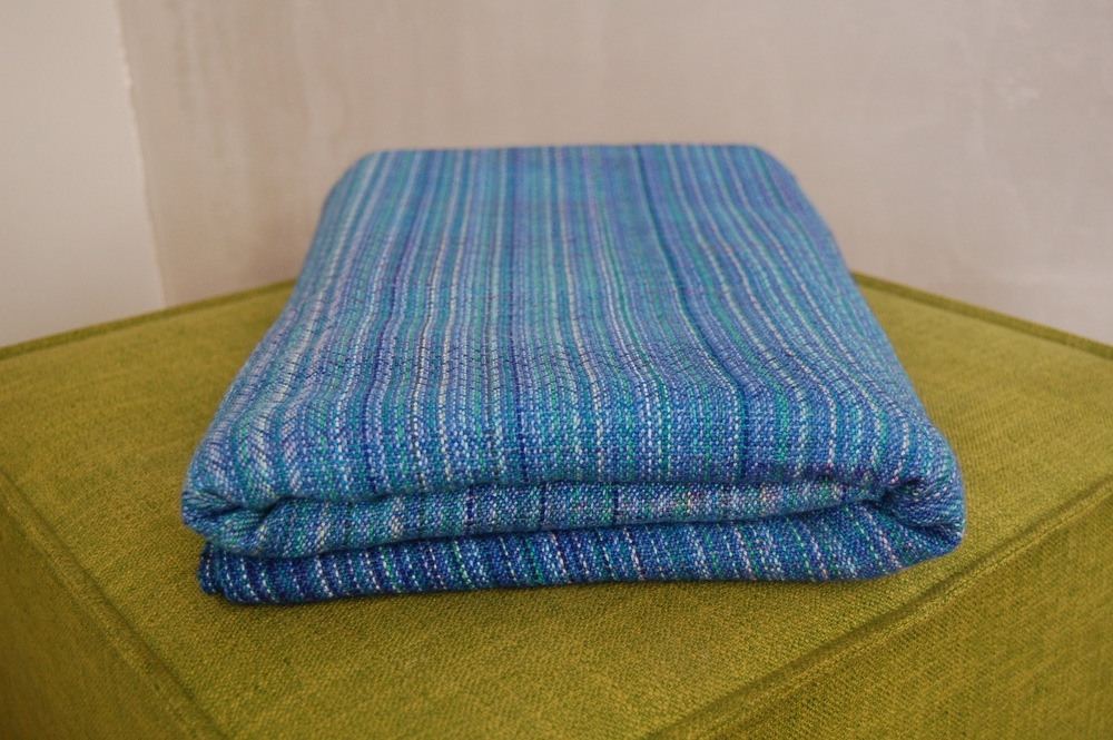 Naiad Mandala Superwash Merino weft 2 meter remnant $250 approximately 262 grams/m^2