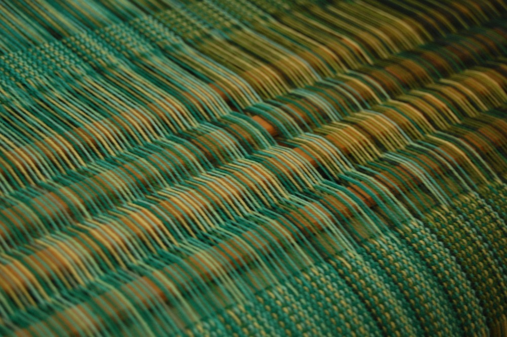 Detail of the warp - shown here in plain weave.