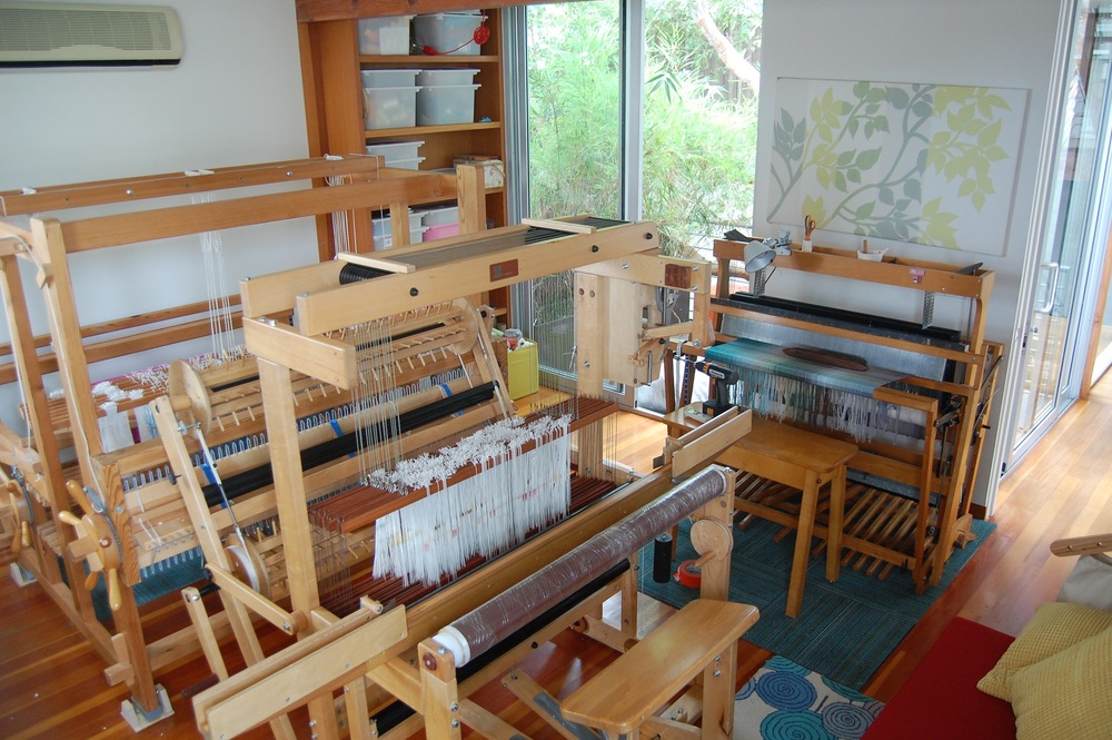 Three looms! Yikes!