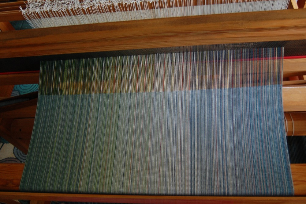 slate blue cotton weft