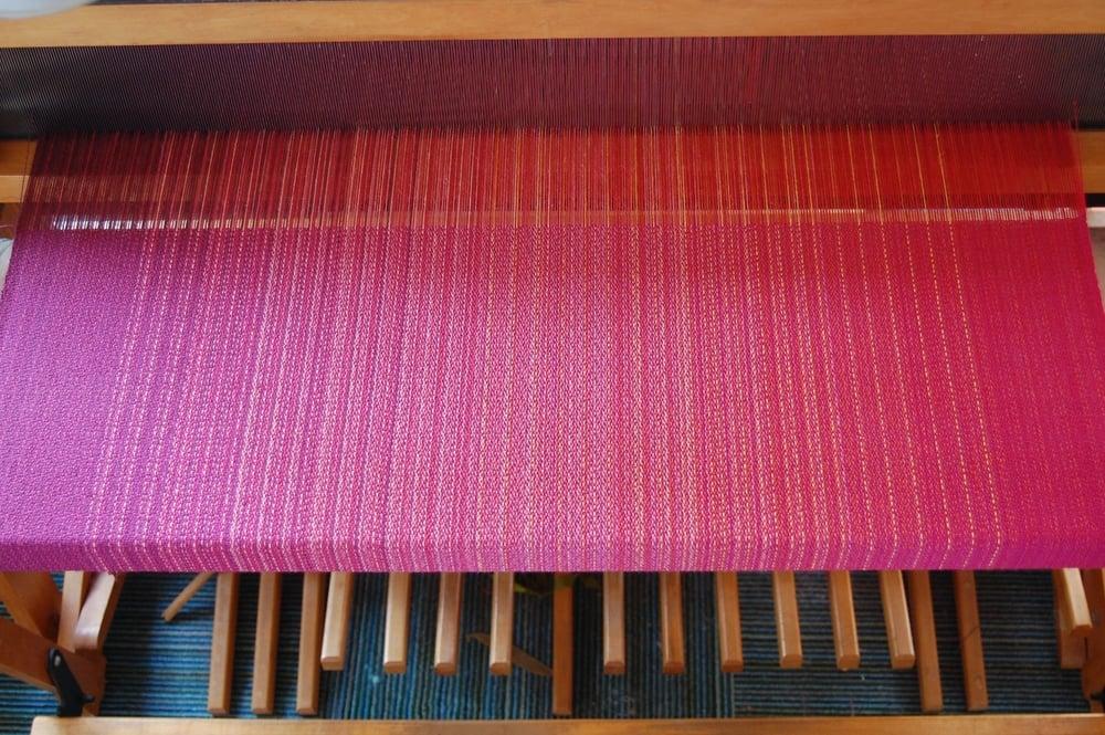 magenta cotton weft