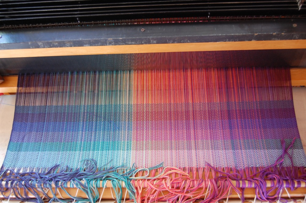 weft testing of EC in blues - from the top: 139, 603, 138, 3060, 1312