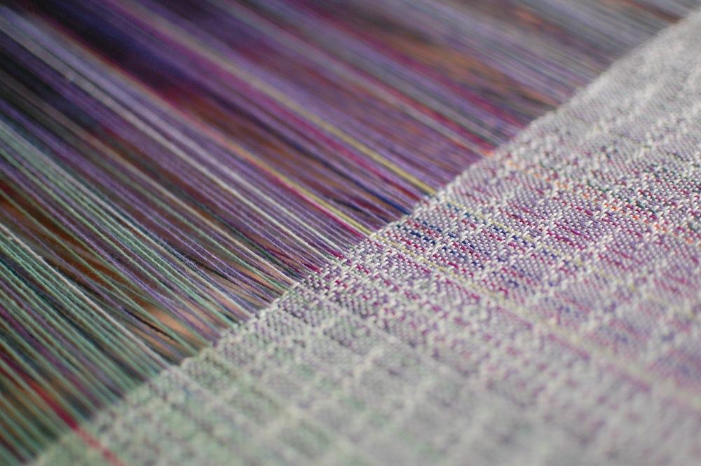 detail of Sea Glass Pima cotton weft
