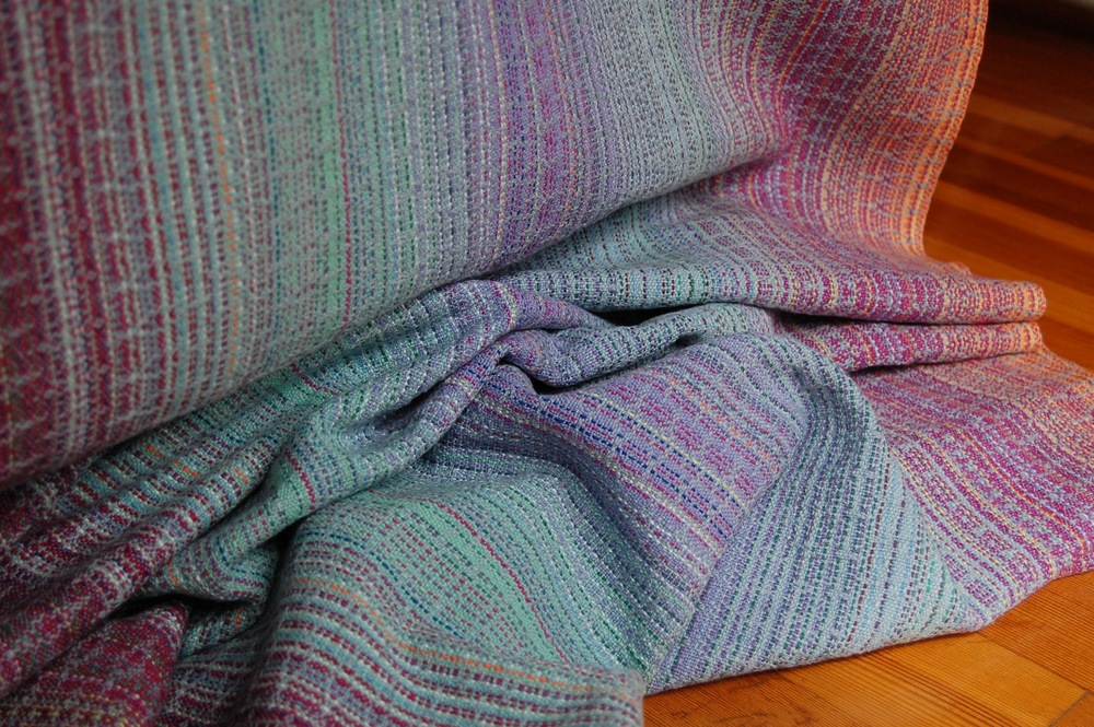 Hyacinth with Neptune organic cottolin weft - SOLD