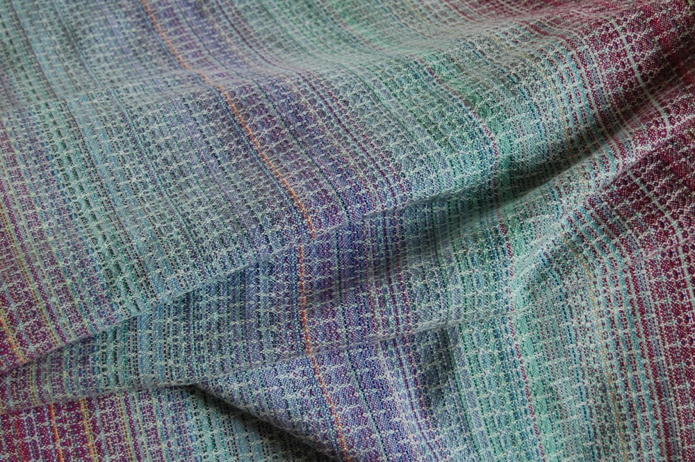 Hyacinth with Sea Glass Pima cotton weft - SOLD